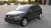 Боковые пороги Duru (2 шт., алюминий) Volkswagen Touareg 2010-2018 гг.