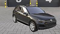 Боковые пороги Tayga Grey (2 шт., алюминий) Volkswagen Touareg 2010-2018 гг.