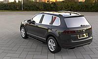 Боковые пороги RedLine V2 (2 шт., алюминий) Volkswagen Touareg 2010-2018 гг.