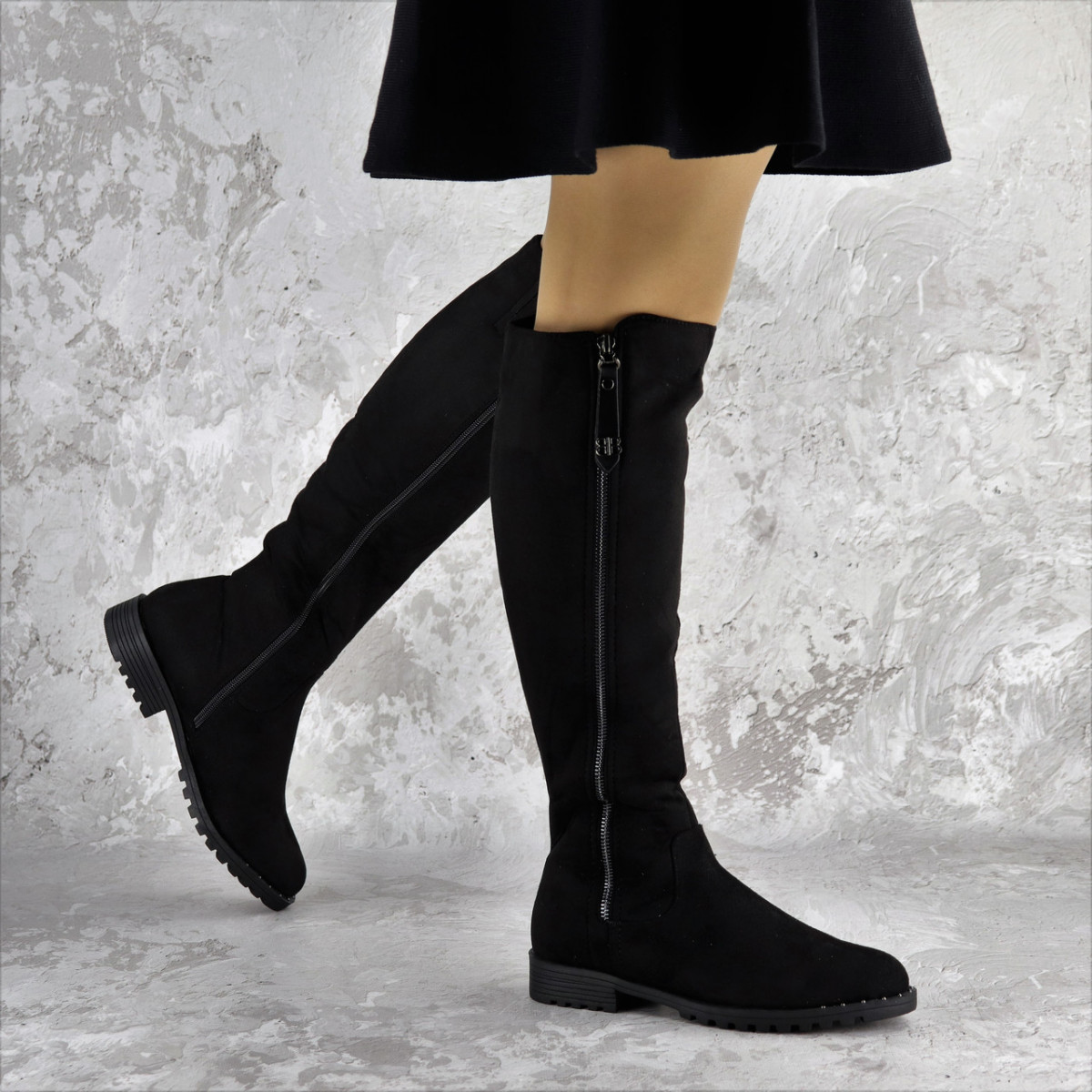 Ботфорты женские черные Kippy 2272 (38 размер)