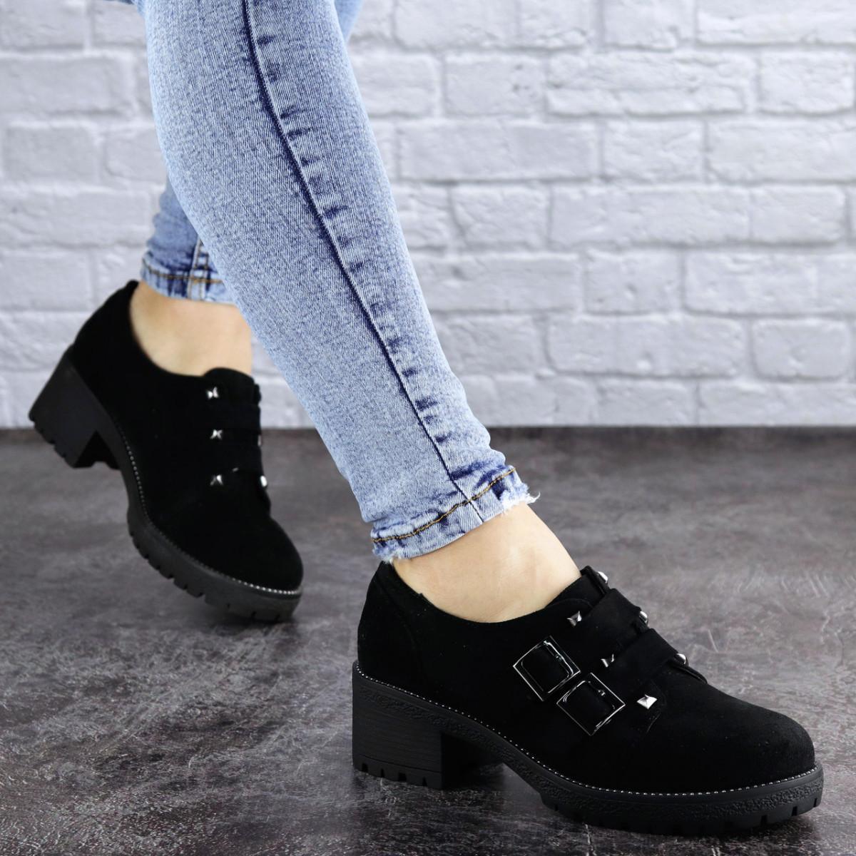 Туфли женские на каблуке черные Aleix 2062 (41 размер)