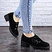 Туфли женские на каблуке черные Aleix 2062 (41 размер), фото 3