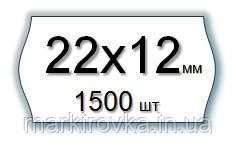 Этикет-лента 22х12 мм МЕТО БЕЛАЯ для однострочных этикет-пистолетов и нумераторов кроя