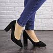 Туфли женские на каблуке черные Maddi 1604 (37 размер), фото 2