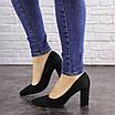 Туфли женские на каблуке черные Maddi 1604 (37 размер), фото 7