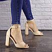 Женские бежевые босоножки на каблуке Cliff 1557 (40 размер), фото 2