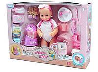Интерактивная кукла пупс 9 функций, посуда, блендер. Ходит на горшок