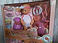 Інтерактивна лялька пупс 9 функцій, посуд, блендер. Ходить на горщик, фото 4
