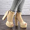Женские стильные босоножки Kassie на каблуке 1193 (37 размер), фото 3