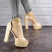 Женские стильные босоножки Kassie на каблуке 1193 (37 размер), фото 5