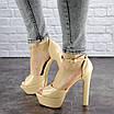 Женские стильные босоножки Rosebud на каблуке 1124 (37 размер), фото 2