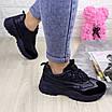 Женские стильные кроссовки Ella темно синие 1096 (38 размер), фото 5