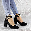 Туфли женские на каблуке черные Pebbles 2146 (36 размер), фото 6