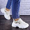 Женские бежевые кроссовки Braxton 1742 (39 размер), фото 4
