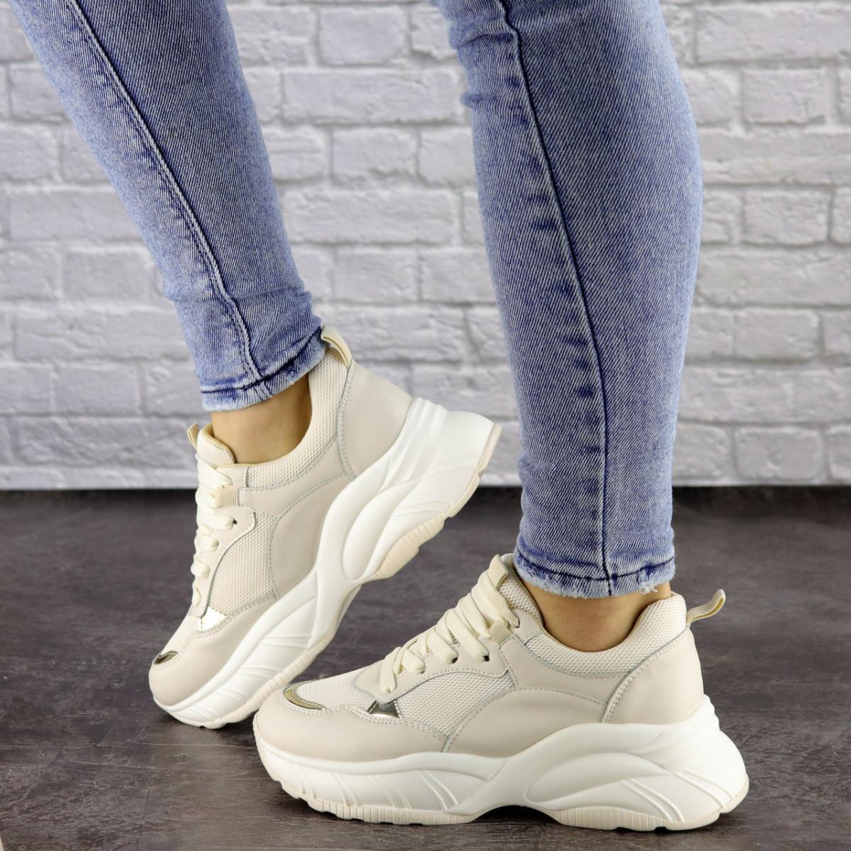 Женские бежевые кроссовки Nano 1468 (37 размер)