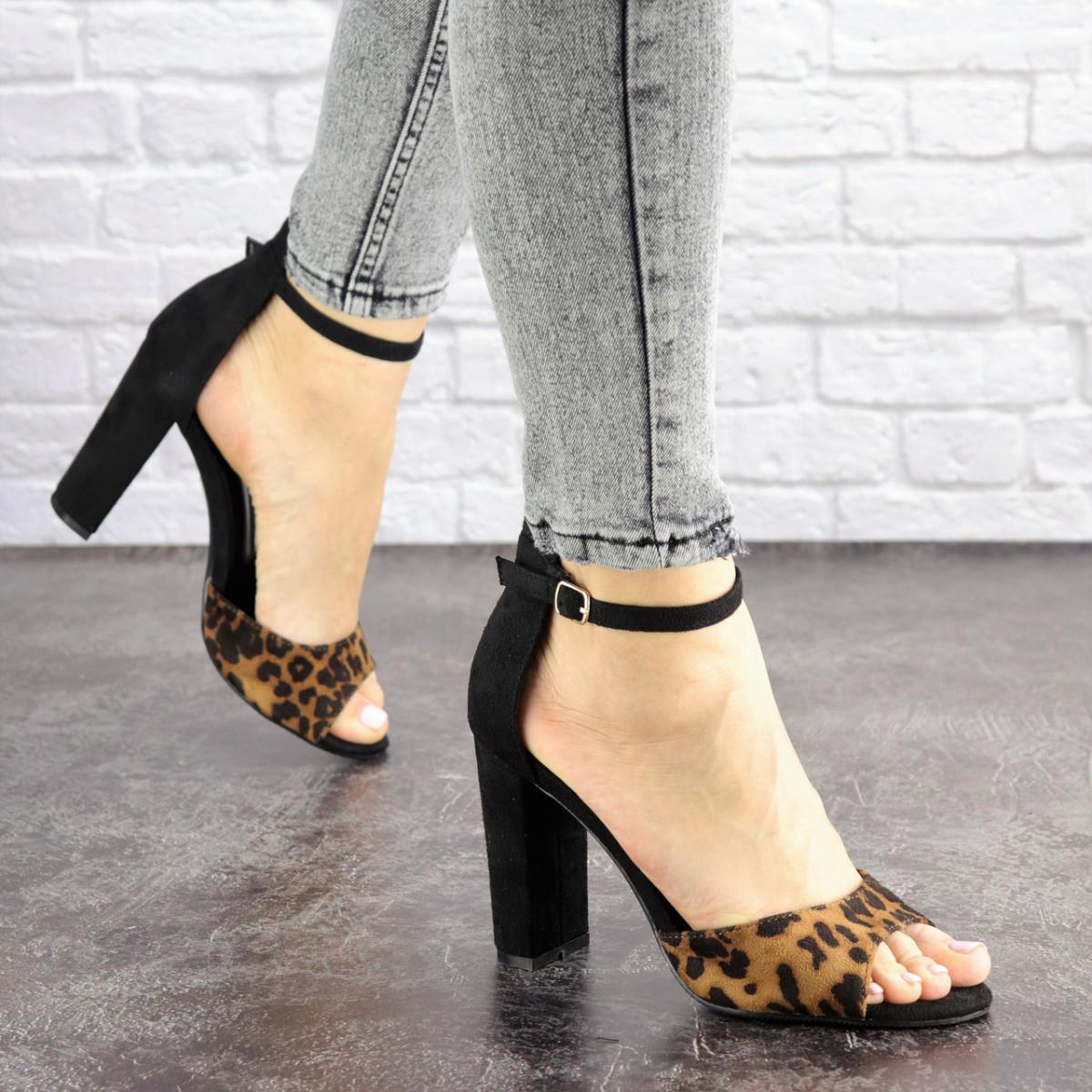 Женские стильные леопардовые босоножки Jayden на каблуке 1178 (40 размер)