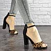 Женские стильные леопардовые босоножки Jayden на каблуке 1178 (40 размер), фото 3