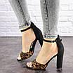 Женские стильные леопардовые босоножки Jayden на каблуке 1178 (40 размер), фото 4