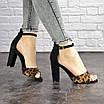 Женские стильные леопардовые босоножки Jayden на каблуке 1178 (40 размер), фото 7