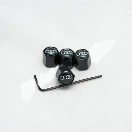 Колпачки на ниппеля Audi black/черный колпачок