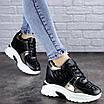Женские стильные черные кроссовки на танкетке Lula 2037 (39 размер), фото 6