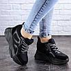 Женские стильные черные кроссовки на танкетке Misifu 2070 (36 размер), фото 3