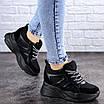 Женские стильные черные кроссовки на танкетке Misifu 2070 (36 размер), фото 4