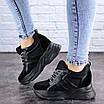 Женские стильные черные кроссовки на танкетке Misifu 2070 (36 размер), фото 5