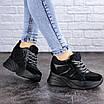 Женские стильные черные кроссовки на танкетке Misifu 2070 (36 размер), фото 6