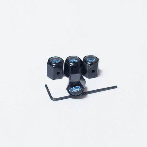 Колпачки на ниппеля Ford black/черный колпачок