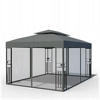 Садовый павильон DELUXE, 3X4 м, серый