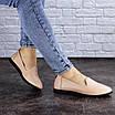 Женские туфли кожаные бежевые Fletcher 1954 (36 размер), фото 4