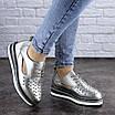 Женские туфли кожаные серебристые Demi 1966 (36 размер), фото 2