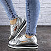 Женские туфли кожаные серебристые Demi 1966 (36 размер), фото 4