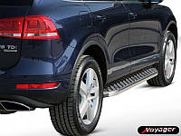 Боковые пороги BlackLine (2 шт, алюминий) Volkswagen Touareg 2002-2010 гг.
