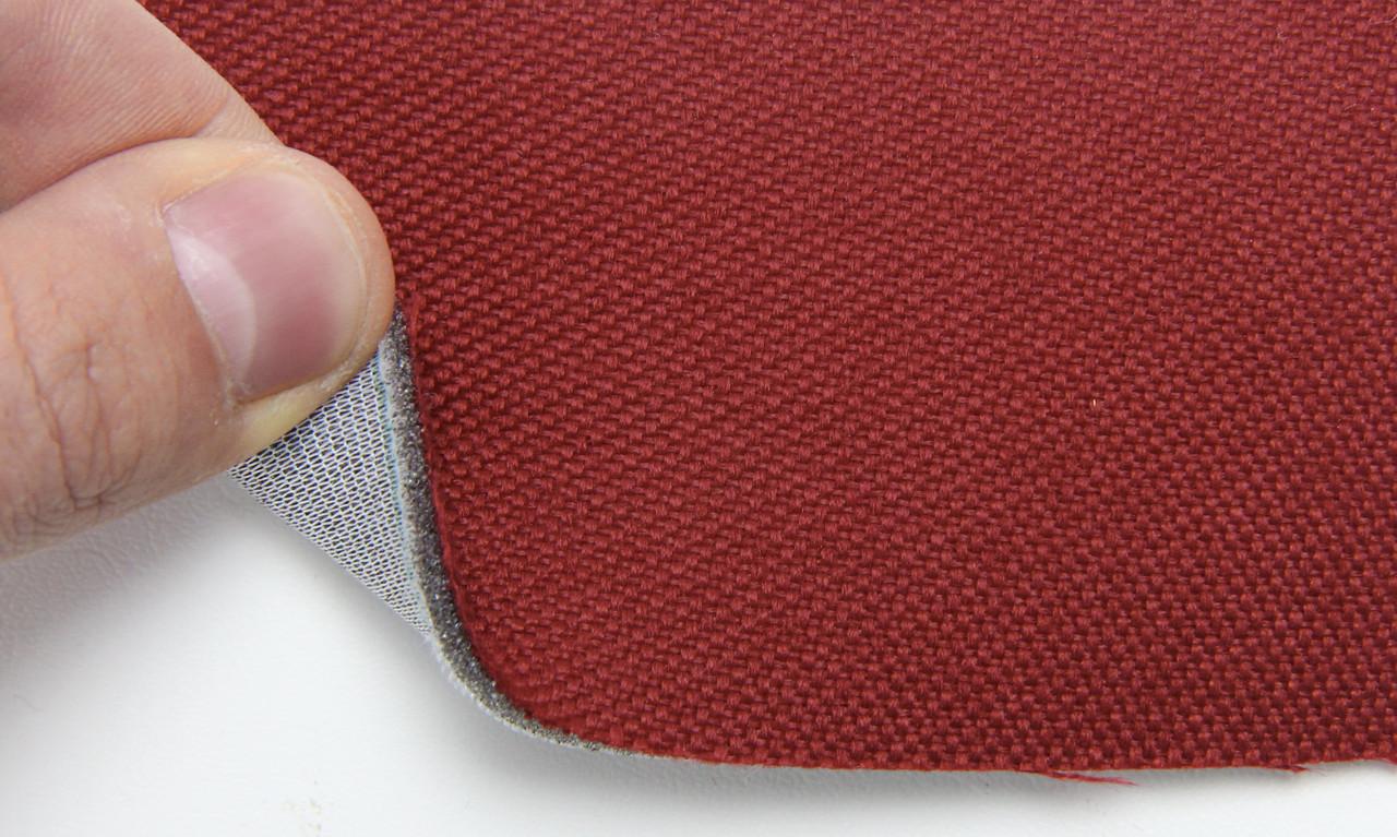 Автоткань оригинальная для боков сидений (бордовый 7626), основа на поролоне, толщина 3мм, шир 140см