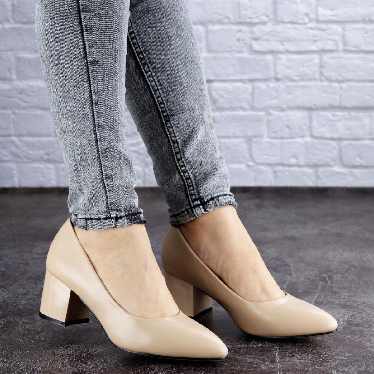 Женские туфли на каблуке бежевые Pebbles 2012 (36 размер)