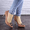 Женские туфли на каблуке розовые April 1936 (36 размер), фото 3