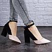Женские туфли на каблуке розовые с черным Tex 2029 (37 размер), фото 3