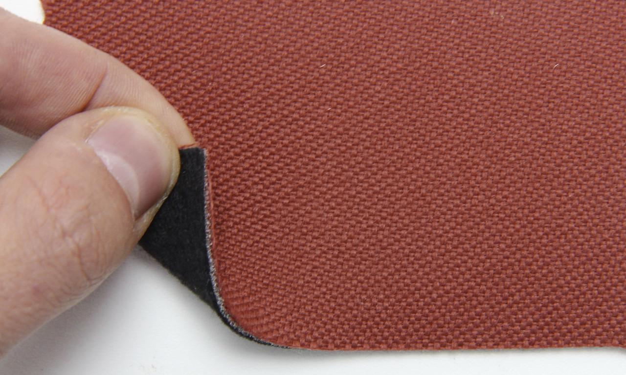 Автоткань оригинальная для боков сидений (мягкий красный 7626/1), основа на войлоке, толщина 2мм, шир 140см
