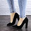 Женские туфли на каблуке черные Howie 1944 (36 размер), фото 7