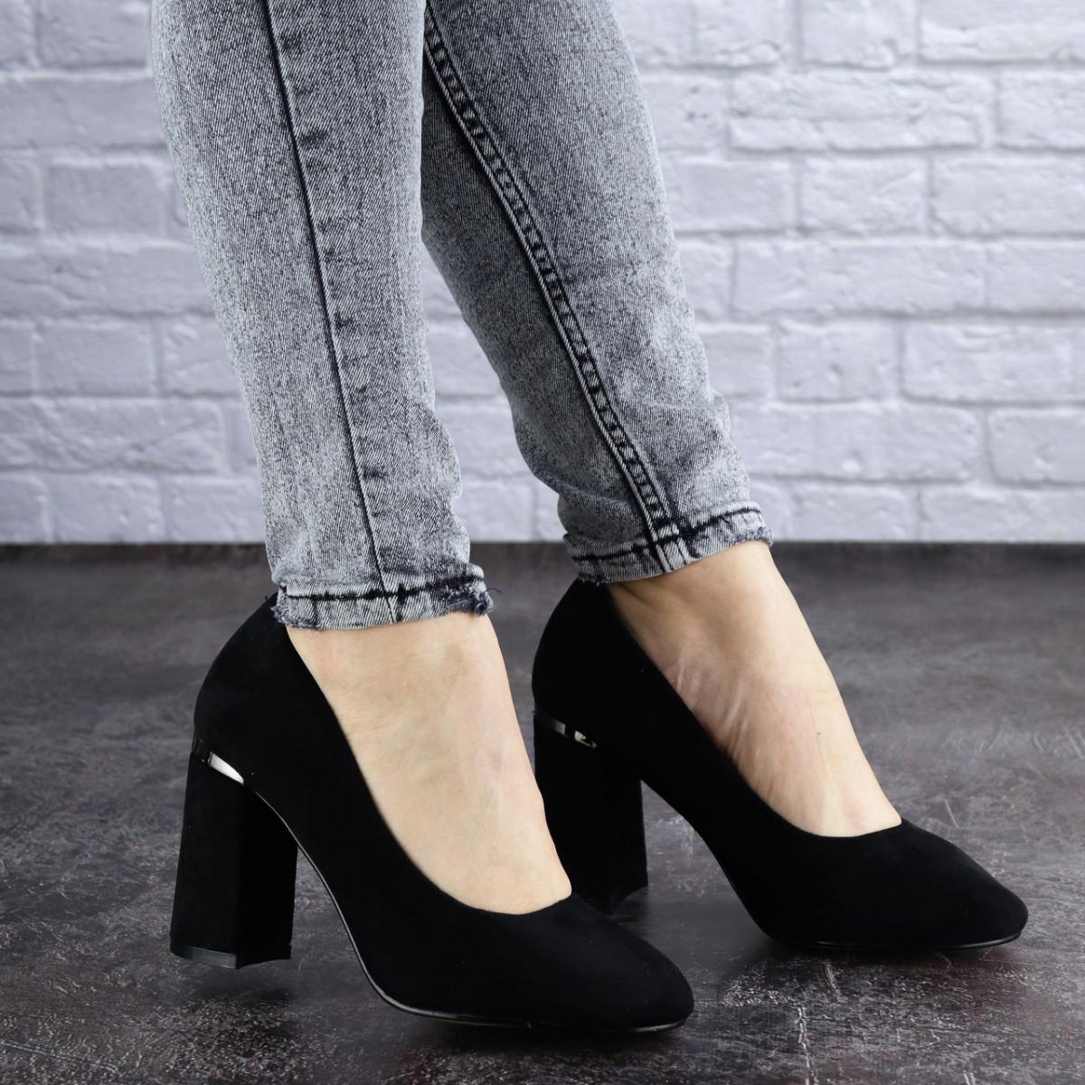 Женские туфли на каблуке черные Potter 2004 (36 размер)