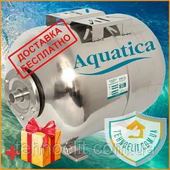 Гидроаккумулятор из нержавейки 50 литров горизонтальный Aquatica 779112 с нержавеющим фланцем