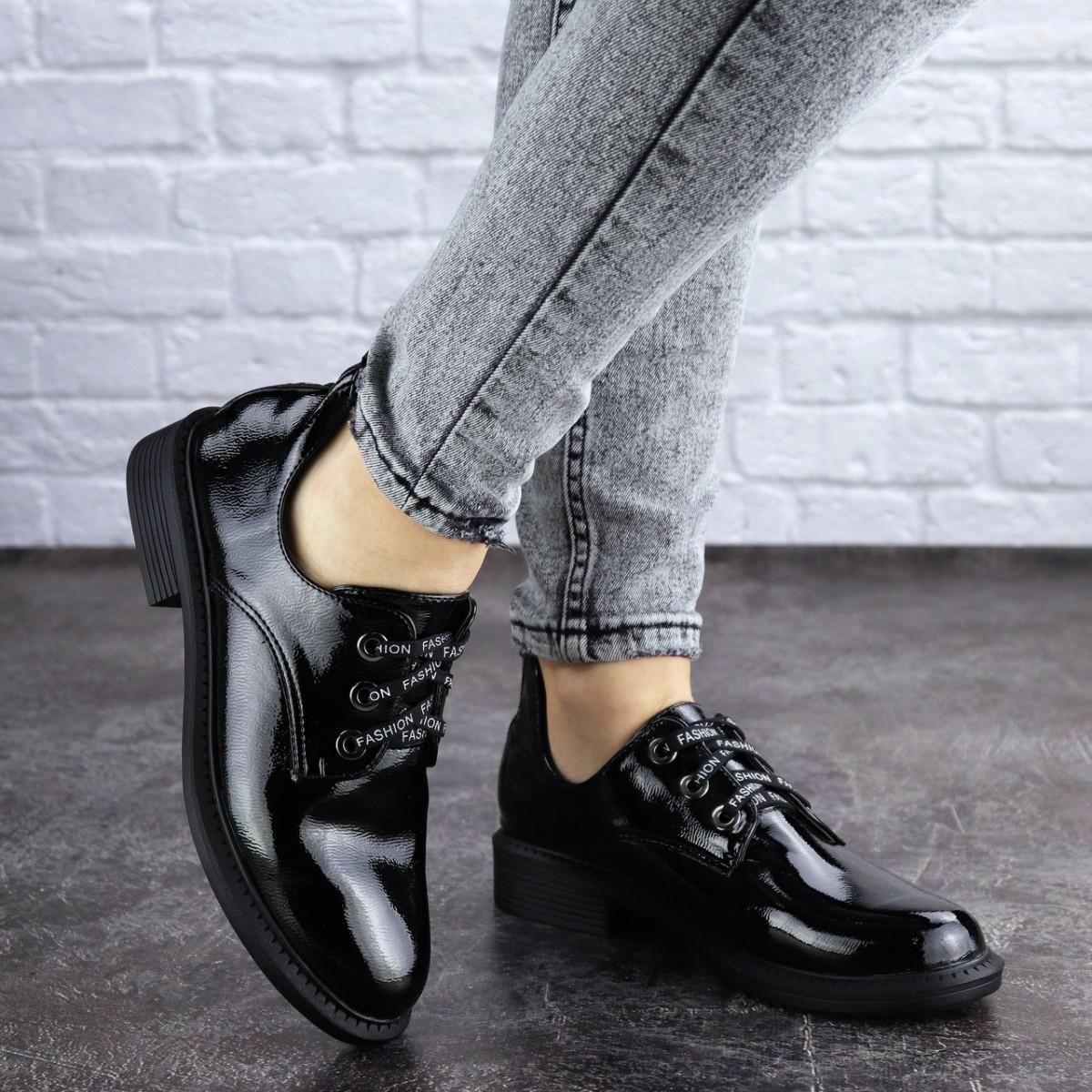 Женские туфли черные Prancer 2033 (36 размер)