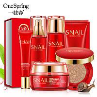 Подарочный набор с муцином улитки One Spring Snail Repair & Brightenng (6 предметов)