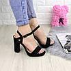 Женские черные босоножки на каблуке Juror 1211 (40 размер), фото 6