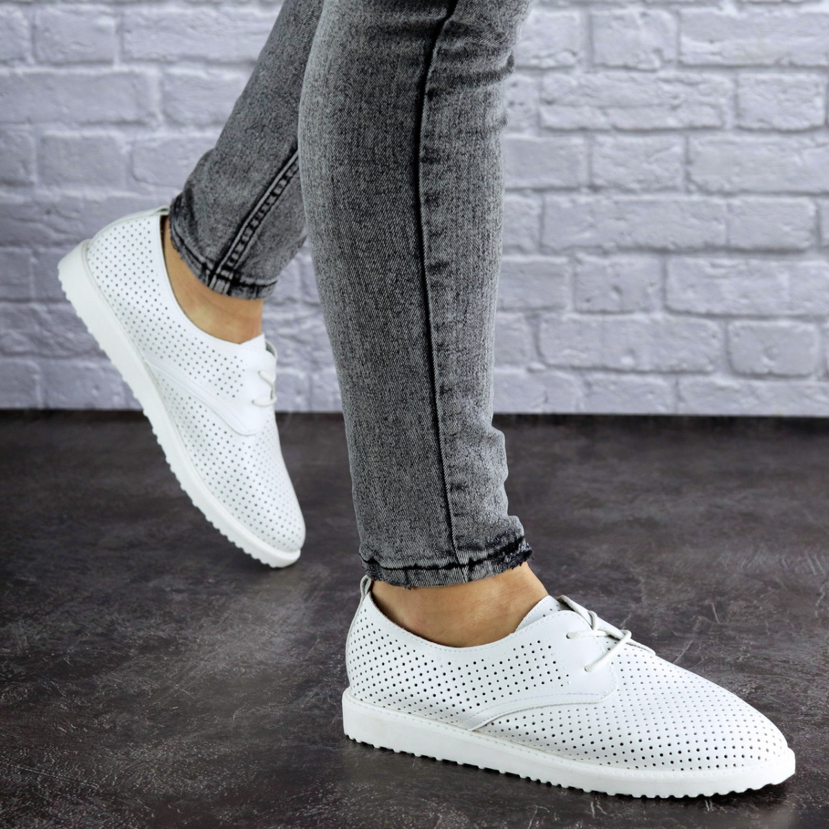 Женские белые туфли Twinkle 1784 (36 размер)