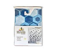 Штора для ванной тканевая Miranda Соты 180х200см, фото 1