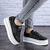 Женские черные кожаные кроссовки Erly 1717 (37 размер), фото 8