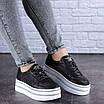 Женские черные кожаные кроссовки Erly 1717 (37 размер), фото 9